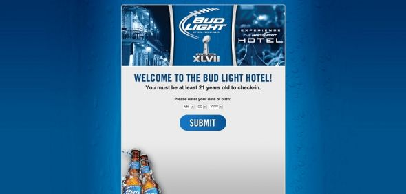 Bud Light Super Bowl Experience at Bud Light Hotel New Orleans Sweepstakes