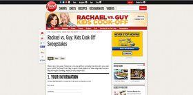 Food Network Rachael vs. Guy: Kids Cook-Off Sweepstakes