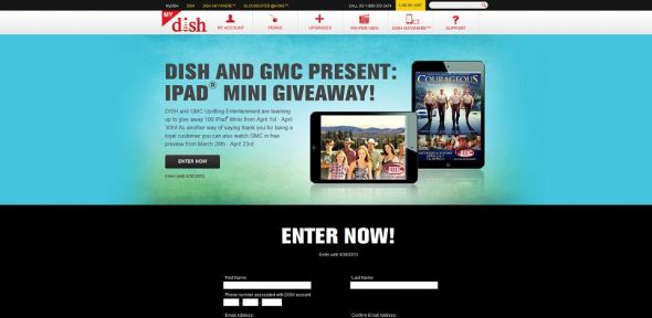 DISH and GMC iPad Sweepstakes