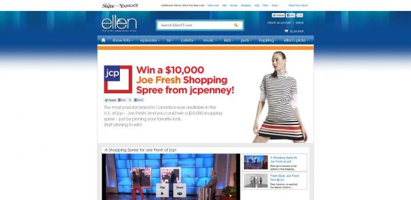 ellentv.com/jcp – Ellen and JCPenney Pin It to Win It Sweepstakes