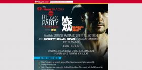 iHeartRadio.com/Pennzoil – Pennzoil Tim McGraw Album Release Party Flyaway Sweepstakes – Your chance to hear McGraw perform music from the new album