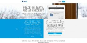 PayPal Holiday Choose Cheer Promotion : Every transaction is a chance to win