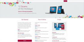 McAfee and Dell 12 Scams of the Holidays Social Sharing Sweepstakes