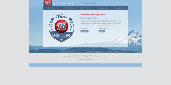 76GasForLife.com – Win Gas for Life Sweepstakes 2012
