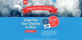 ESPN Radio And Lowe's Improve Your Holiday Sweepstakes – Up to $3,000 in Lowe's gift cards!