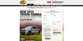 basspro.com/bpstundra – Bass Pro Shops Holiday Toyota Sweepstakes