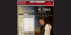Cinemark's Mr. Turner Sweepstakes : Win a trip to London