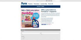 Purex WIN A Subscription To FamilyFun Magazine Sweepstakes