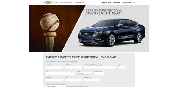 chevybaseball.com – MLB Chevrolet Impala Sweepstakes