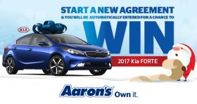 Aaron's Big Blue Bow Event Sweepstakes (Aarons.com/BigBlueBow)