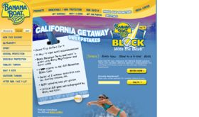 Banana Boat Block With The Best California Getaway Sweepstakes