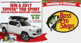 Bass Pro Shops Countdown To Christmas Sweepstakes 2016 (BassPro.com/Countdown)