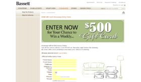 Bassett $500 Shopping Spree Sweepstakes
