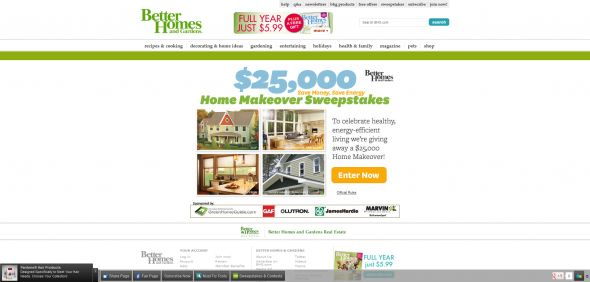 Better Homes and Gardens Save Money, Save Energy Green Home Makeover Sweepstakes