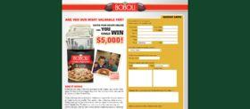 Boboli Most Valuable Fan Pizza Contest