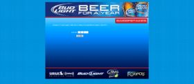 Bud Light Beer For A Year Sweepstakes