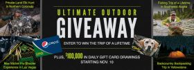 Cabela's Ultimate Outdoor Giveaway 2016 (Cabelas.com/Sweeps)