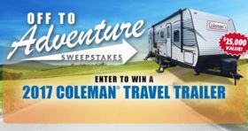 Camping World Off To Adventure Sweepstakes (CampingWorld.com/Adventure)