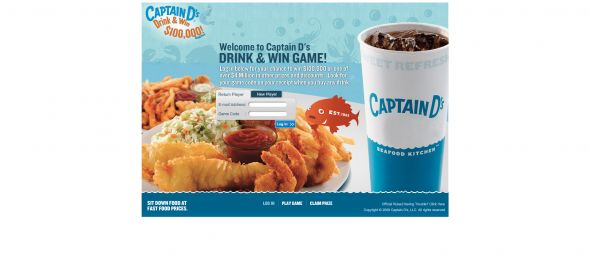 Captain D's Drink & Win Game