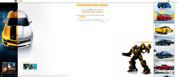 Chevy Transform Your Garage Sweepstakes