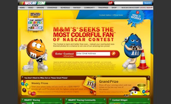 M&M's Most Colorful Fan of NASCAR Contest