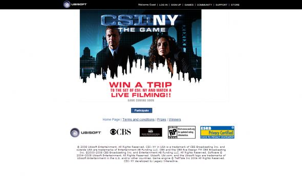CSI: New York  Sweepstakes