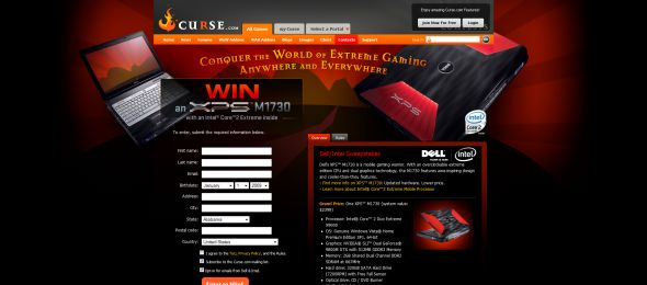 Curse Dell Intel Sweepstakes