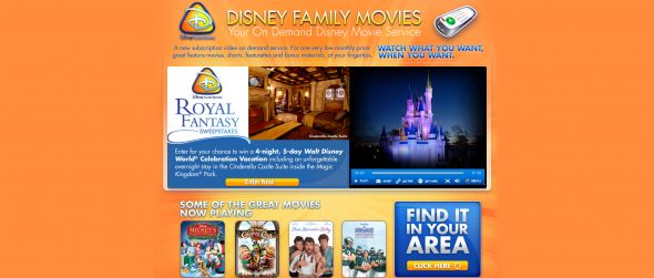 Disney Family Movies Royal Fantasy Sweepstakes