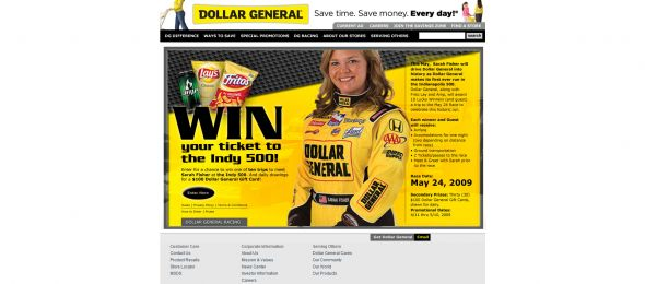 Dollar General Ticket to the Indy 500 Sweepstakes