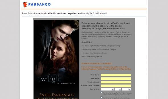 Twilight Sweepstakes