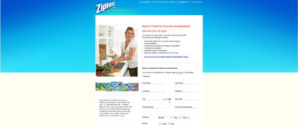 Ziploc Fresh For Success Sweepstakes