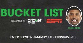 Cricket Wireless & ESPN Bucket List Sweepstakes 2017
