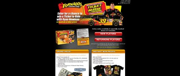 mytornados.com – TORNADOS Ticket to Ride Sweepstakes