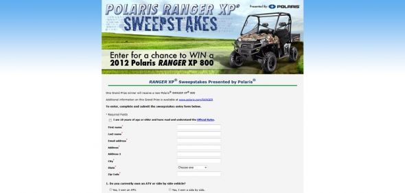 Polaris RANGER XP Sweepstakes