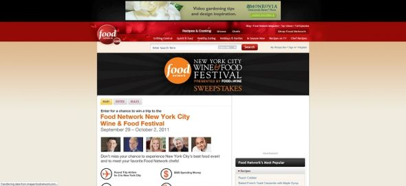 Food Network NYC Wine & Food Festival Sweepstakes