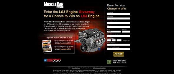 LS3 Engine Giveaway