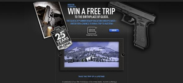 Glock 25th Anniversary Vacation Sweepstakes