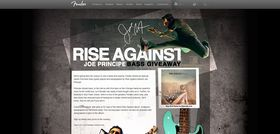 Fender Rise Against Bass Giveaway