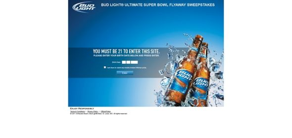 Bud Light Ultimate Super Bowl Flyaway Sweepstakes