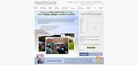 Frontgate Aspen Classic Food and Wine Sweepstakes