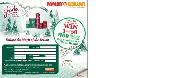 Glade Family Dollar Gift Card Sweepstakes