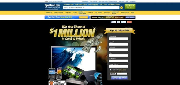 $1 Million Cash and Prizes Sweepstakes