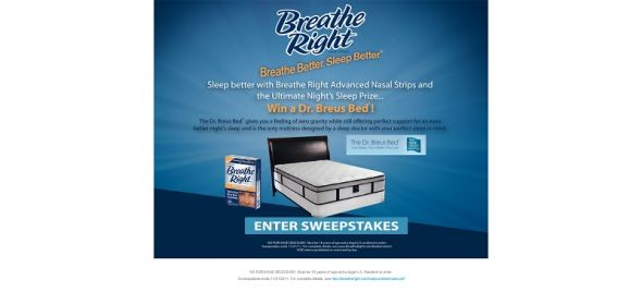 2011 Breathe Right Sleep Right Sweepstakes