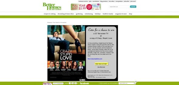Crazy Stupid Love Sweepstakes