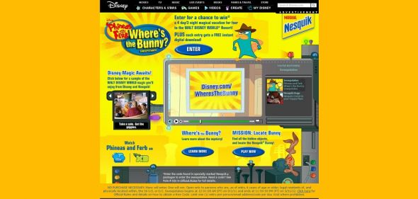 disney.com/wheresthebunny – Disney Phineas and Ferb Where's the Bunny Sweepstakes