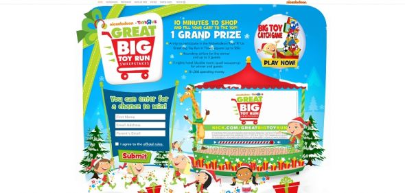 nick.com/greatbigtoyrun – Nickelodeon and Toys 'R' Us Great Big Toy Run Sweepstakes