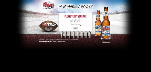 Coors Light Text and Score Sweepstakes