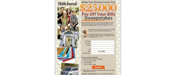 lhj.com/dream – $25,000 Dream Sweepstakes
