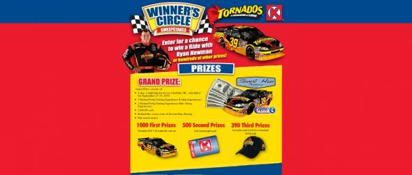 TORNADOS Winner's Circle Sweepstakes