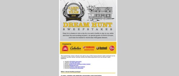 Dream Hunt Sweepstakes
